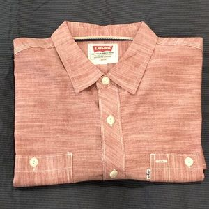 Red Chambray Levi's button down
